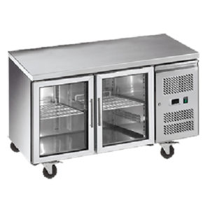 Exquisite SSC260G Snack Size Under Bench Chiller – Glass Doors