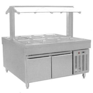 F.E.D. Refrigerated Buffet Bain Marie Centre Servery BS8C