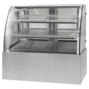 F.E.D. Black Trim Curved Glass 3 Levels Heated Display Cabinet CG090FE-2XB