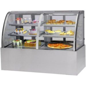 F.E.D. Curved Front Glass Dual Chilled & Heated Display Cabinet