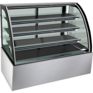 F.E.D. 900mm Bonvue Heated Curved Glass Food Display H-SL830