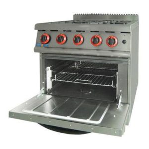 F.E.D. GASMAX 800 Series Four Burner With Oven JZH-RP-4(R)