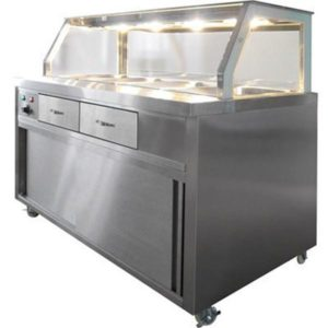 F.E.D. Heated Bain Marie Glass Top Food Display PG150FE-Y