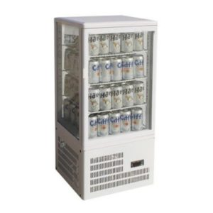 F.E.D. Four-Sided White Countertop Display Fridge TCBD78W