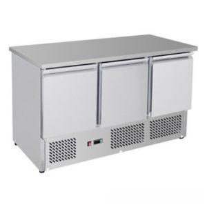 F.E.D. GNS1300B Three Door Compact Workbench Fridge – 400 Litres