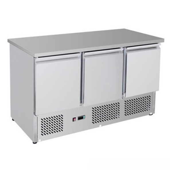 F.E.D. GNS1300B Three Door Compact Workbench Fridge - 400 Litres