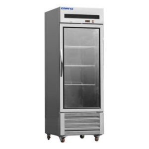 F.E.D. GTR600G1 GRAND Single Glass Door Stainless Steel Display Fridge With Bottom Unit – 651Litre
