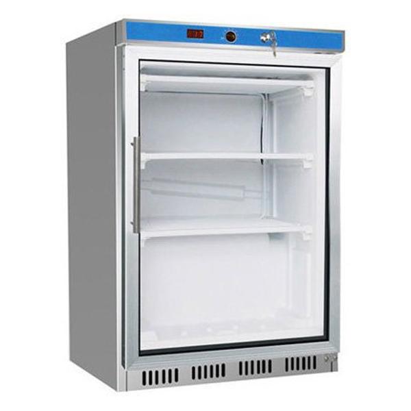 F.E.D. HF200G S/S Display Freezer W/Glass Door
