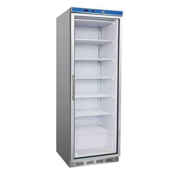 F.E.D. HF400G S/S Display Freezer w/Glass Door