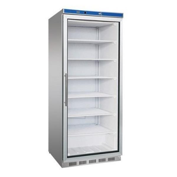 F.E.D. HF600G S/S Display Freezer W/Glass Door