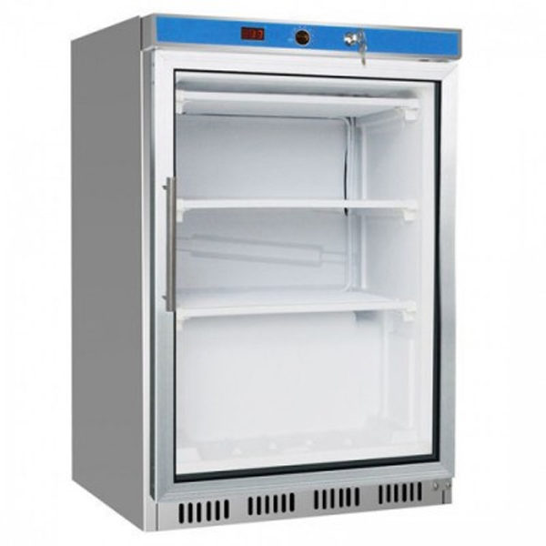F.E.D. HR200G S/S Display Bar Fridge With Glass Door - 128.5 Litre