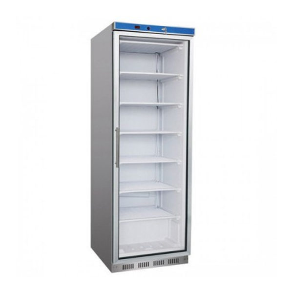 F.E.D. HR400G S/S Display Fridge With Glass Door - 361 Litre
