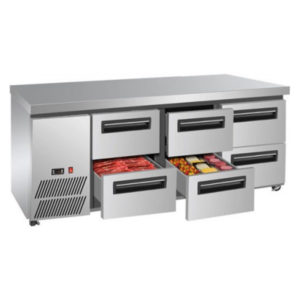 F.E.D. LBC180 Six Drawer Lowboy Fridge