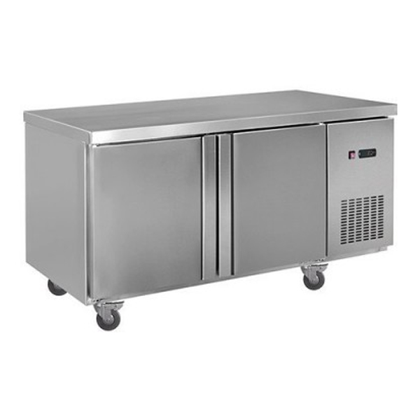 F.E.D. LDWB150F Static Two Door S/Steel Workbench Freezer