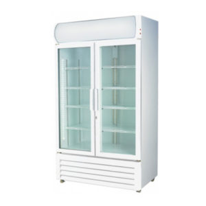 F.E.D. LG-1000GE Two Door Display Fridge