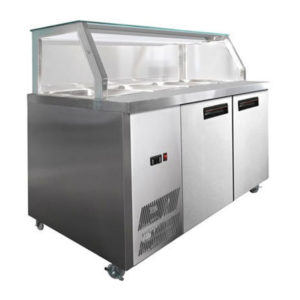 F.E.D. PG150FA-Y Chilled Bain Marie Glass Top Food Display
