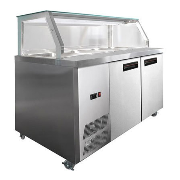 F.E.D. PG180FA-Y Chilled Bain Marie Glass Top Food Display