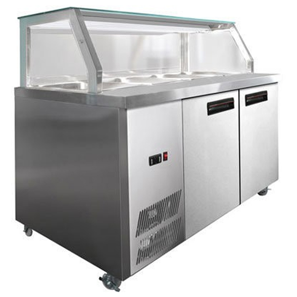 FED PG180FA-Y Chilled Bain Marie Glass Top Food Display