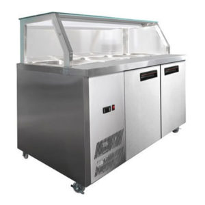 F.E.D. PG210FA-Y Chilled Bain Marie Glass Top Food Display