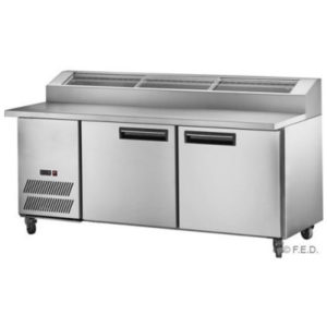 FED PPB-18 Two Large Door DELUXE Pizza Prep Fridge