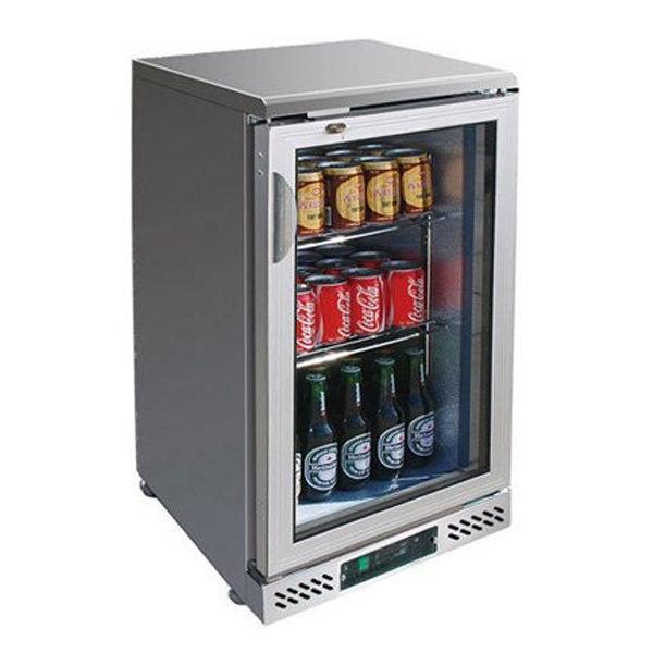 F.E.D. SC148SG Single Door BLACK MAGIC S/Steel Bar Cooler