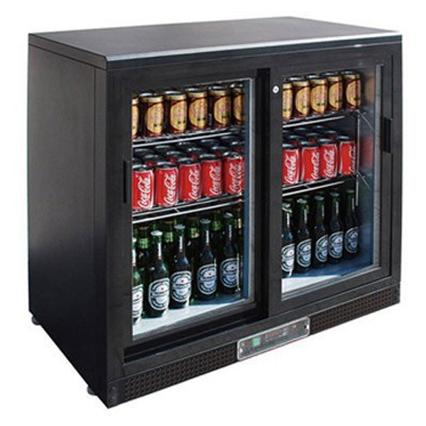 F.E.D. SC248SD Two Door BLACK MAGIC Bar Cooler