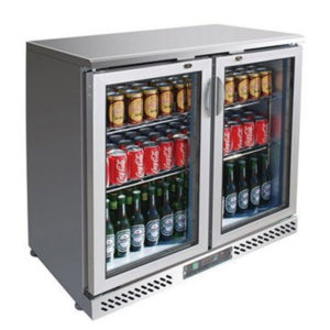 F.E.D. SC248SG Two Door BLACK MAGIC S/Steel Bar Cooler