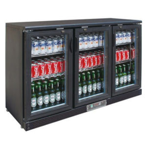 F.E.D. SC316G Three Door BLACK MAGIC Bar Cooler