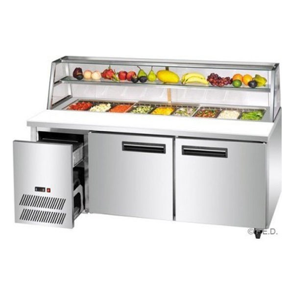F.E.D. SCB/18 Two Large Door DELUXE Sandwich Bar