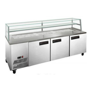 F.E.D. SCB/21 Three Door DELUXE Sandwich Bar