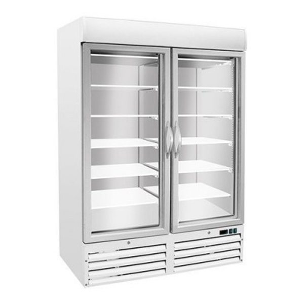 F.E.D. SD930 Stainless Steel Display Freezer