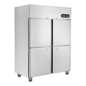 F.E.D. SUC1000 4 X 1/2 Doors S/Steel Upright Fridge