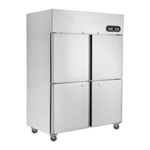 F.E.D. SUC1200 4 X 1/2 Doors S/Steel Upright Fridge