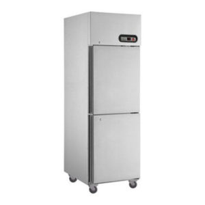 F.E.D. SUC600 2 X 1/2 Doors S/Steel Upright Fridge