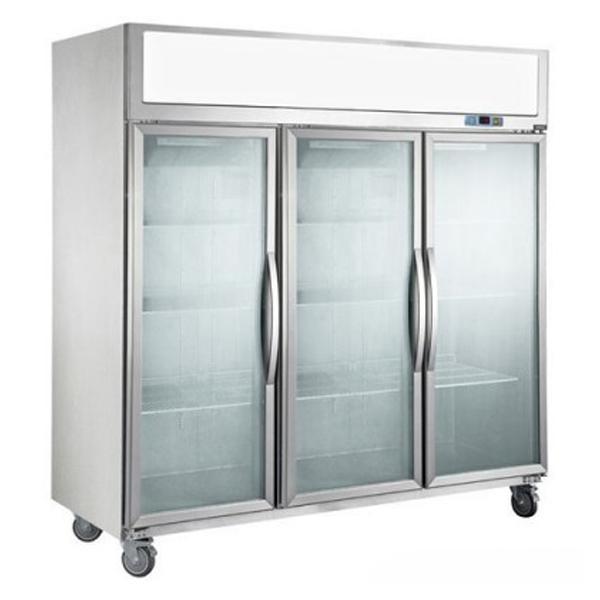 F.E.D. SUCG1500 Three Door Upright Display Fridge - 1500 Litre