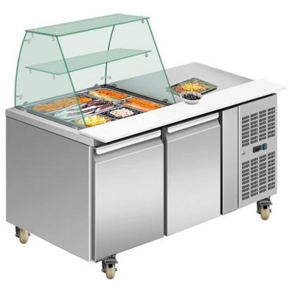 F.E.D. THP2100SALGC Two Door DELUXE Salad Bar