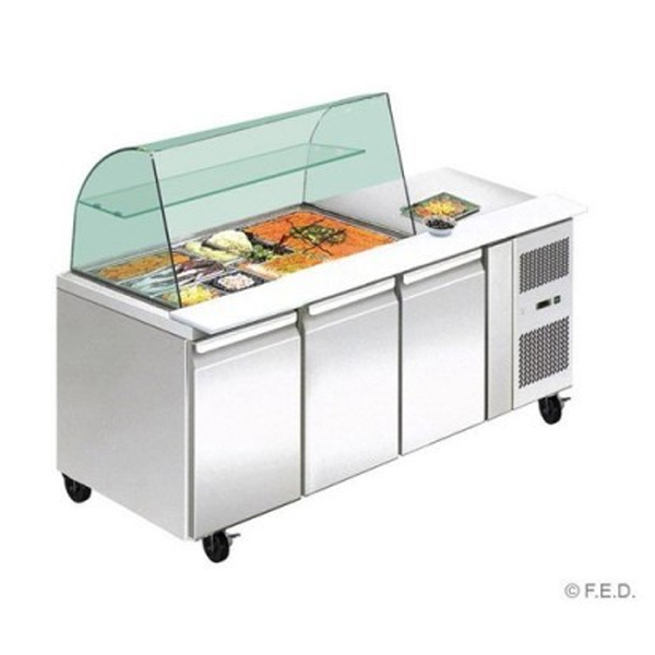 F.E.D. THP3100SALGC Three Door DELUXE Salad Bar