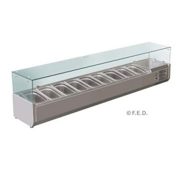 FED THPZ2610TN 2 Door Fridge With Drawers And Marble Benchtop(3)