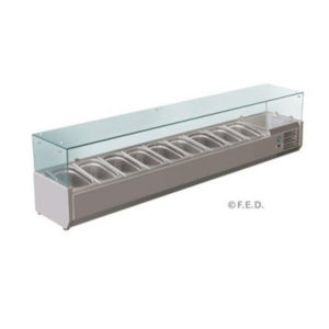 F.E.D. VRX2000/380 DELUXE Pizza / Sandwich Bar Prep Top – 2000mm