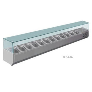 F.E.D. VRX2500/380 DELUXE Pizza / Sandwich Bar Prep Top – 2500mm