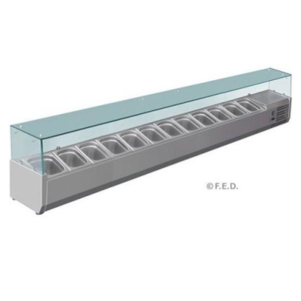 F.E.D. VRX2500/380 DELUXE Pizza / Sandwich Bar Prep Top - 2500mm