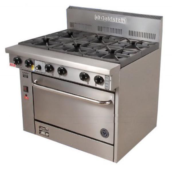 Goldstein Fan Forced 6 Burner Gas Range PF-6-28FF