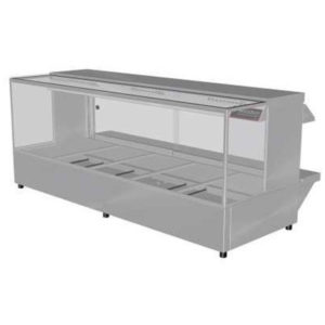 Woodson W.HFSQ25 Hot Food Bar – Straight Glass 1680mm