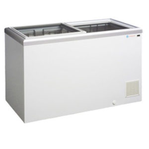 ICS Chest Freezer With Glass Sliding Lids