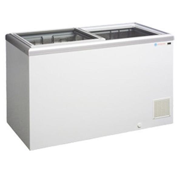 ICS Chest Freezer with Glass Sliding Lids