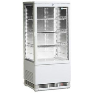 ICS Venice Four Sided Glass Refrigerated Display In White – Bench Top