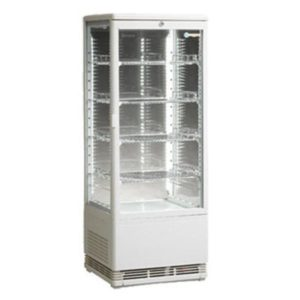 ICS Venice Tower Four Sided Glass Refrigerated Display In White-Bench Top