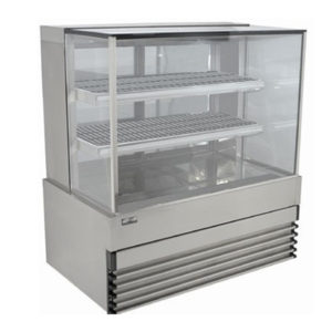 Koldtech KT.SQHCD.12 Square Glass Heated Food Display Cabinet – 1200mm
