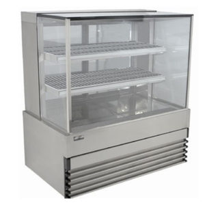 Koldtech KT.SQHCD.15 Square Glass Heated Food Display Cabinet – 1500mm