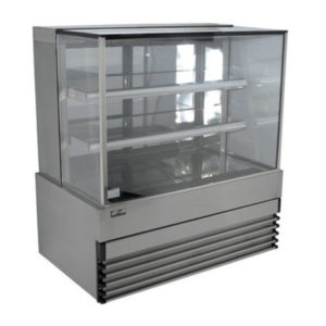 Koldtech KT.SQRCD.12.4T Square Glass Refrigerated Cake Display 4 Fixed Shelves – 1200mm